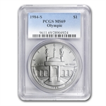 1984-S Olympic $1 Silver Commemorative - MS-69 PCGS