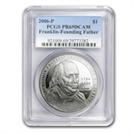 2006-P B.Franklin Founding Father $1 Silver Comm. PR-69 DCAM PCGS