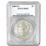 1880/9-S Morgan Dollar - MS-63 PCGS VAM-11 0/9 Overdate Hot-50
