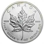 1 oz Silver Canadian Maple Leaf - (Culls)