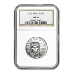 2005 4-Coin Platinum American Eagle Set MS-70 NGC