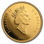 1993 1/4 oz Gold Canadian $100 Proof - Horseless Carriage