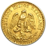 1919 Mexican Gold 2 Pesos (Almost Uncirculated)