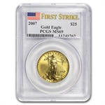 2007 1/2 oz Gold American Eagle MS-69 PCGS (First Strike)