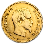France 10 Francs Gold Napoleon III (Avg Circ) AGW .0933