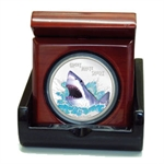 2007 1 oz Proof Silver Great White Shark- Deadly and Dangerous