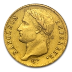 France 1809-1814 20 Francs Gold Napoleon AU