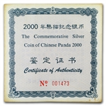 2000 (Kilo Proof) Silver Chinese Panda (W/Box & Coa)