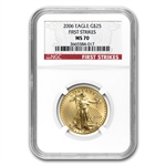 2006 1/2 oz Gold American Eagle MS-70 NGC (First Strikes)