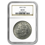 1896-O Morgan Dollar Almost Uncirculated-53 NGC