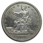 1878-S Trade Dollar - Almost Uncirculated Details - Cleaned