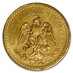 Mexico 1945 50 Pesos Gold Coin (AU/BU)