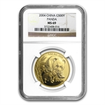 2004 1 oz Gold Chinese Panda MS-69 NGC