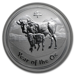2009 1 oz Silver Lunar Year of the Ox (Series I) - Key Date!