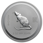 2008 2 oz Silver Lunar Year of the Mouse (Series I)