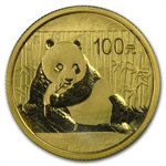 1/4 oz Gold Chinese Pandas - (Sealed in Plastic)