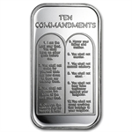 1 oz Ten Commandments Silver Bar