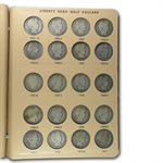 Barber Half Dollar Set Complete 1892- 1915 - In Dansco Album