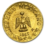 Mexico 1865-B Mini Gold Coin Maximiliano Replica (11 mm)