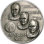 4.98 oz Silver Round APOLLO 12 .999 Fine