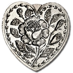 1 oz For Someone Special (Rose) Silver Heart .999 Fine