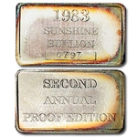6.75 oz Silver Sunshine Mining Proof Set .999 Fine
