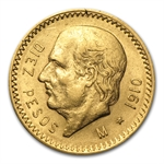 Mexico 1910 10 Pesos Gold Coin (AU/BU)