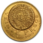 Mexico 1918 20 Pesos Gold Coin (AU/BU)