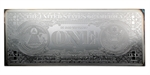 4 oz Prooflike Silver Bar - $1 Bill - .999 Fine