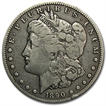1890-CC Morgan Dollar - Fine VAM-4 TailBar Top-100