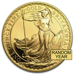 1 oz Gold Britannia - Random Year - Proof &/or Uncirculated