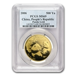2006 1 oz Gold Chinese Panda MS-69 PCGS