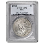 1998-S Robert F. Kennedy $1 Silver Commemorative - MS-70 PCGS