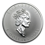 2003 1 oz Silver Canadian Maple Leaf - Good Fortune Hologram
