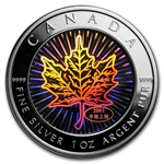 2001 1 oz Silver Canadian Maple Leaf (Good Fortune Hologram)