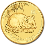 2008 1/20 oz Gold Lunar Year of the Mouse (Series II)