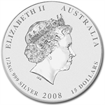 2008 1/2 Kilo Silver Australian Year of the Mouse Coin (SII)
