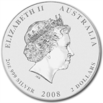 2008 2 oz Silver Australian Year of the Mouse Coin (Series II)