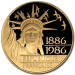 France 1986 100 Franc Gold Proof