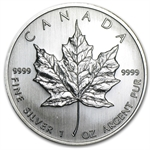 2008 1 oz Silver Canadian Maple Leaf (Brilliant Uncirculated)