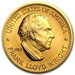 U.S. Mint Gold 1/2 oz Frank Lloyd Wright Commemorative Arts Medal
