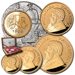 2002 5-Coin Proof Gold South African Krugerrand Set