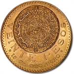 Mexico 1919 20 Peso Gold (AU/BU)