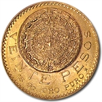 Mexico 1920 20 Pesos Gold Coin (AU/BU)