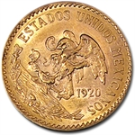 Mexico 1920 20 Peso Gold (AU/BU)