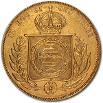 Brazil 10,000 Reis Gold Average Circulated Random Dates