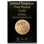 Great Britain 1984 5 Pound Gold Brilliant Uncirculated
