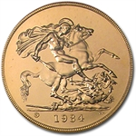 Great Britain 1984 5 Pounds Gold Brilliant Uncirculated