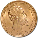 Sweden 20 Kronor Gold BU Random Dates AGW .2593