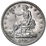 1877-S Trade Dollar - Extra Fine Details - Cleaned